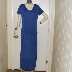 NWOT Short Sleeve Blue Maxi Dress Sz  Med